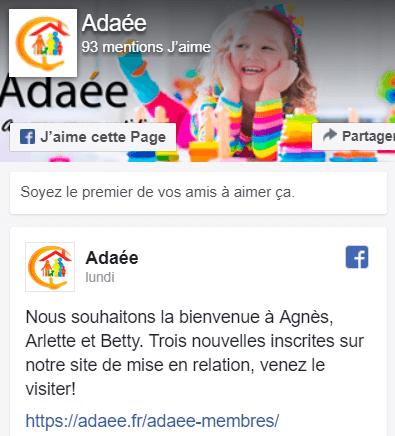 Facebook d'Adaée